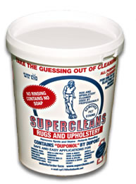 Supercleans removes spots and stains